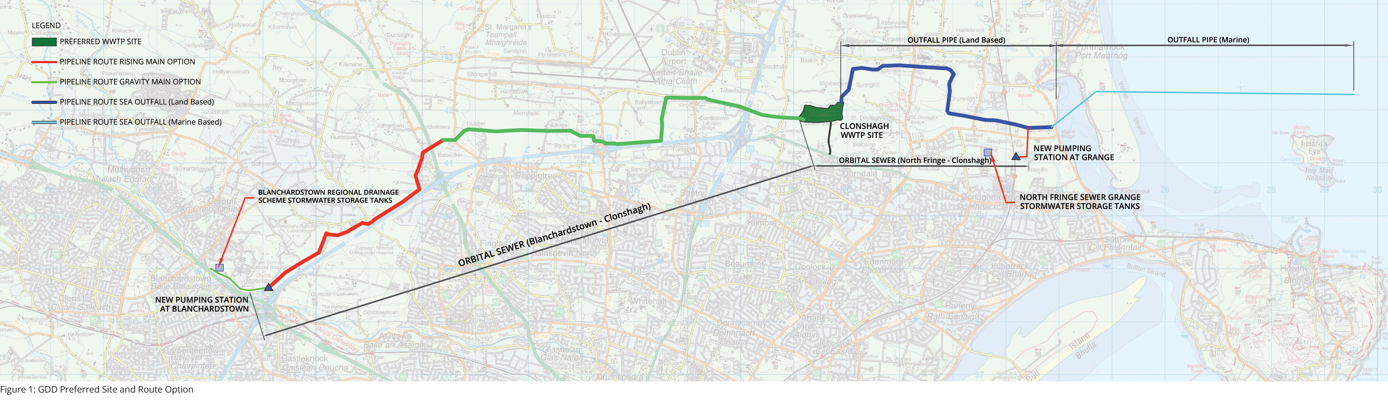 Greater Dublin Drainage Preferred Site and Route Option