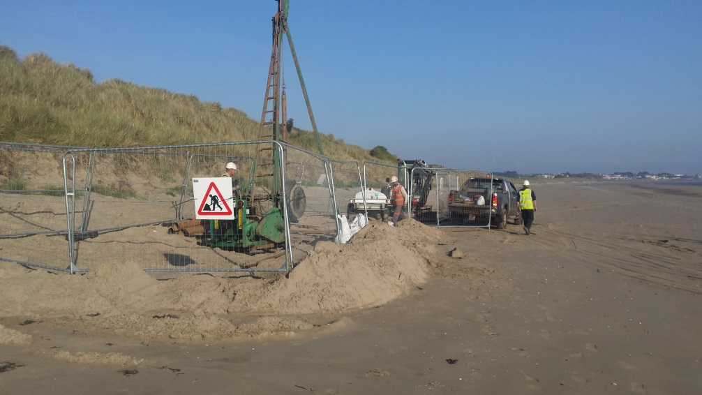 Ground Investigation, Velvet Strand, Portmarnock, Summer 2015