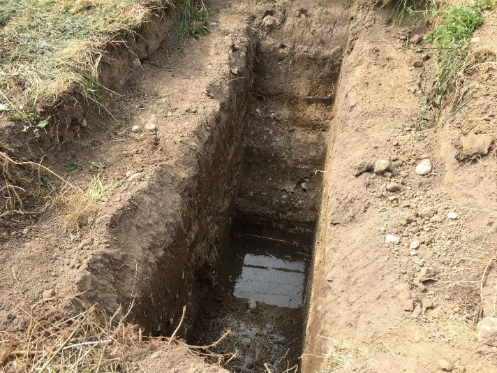 Example of a trial pit survey.